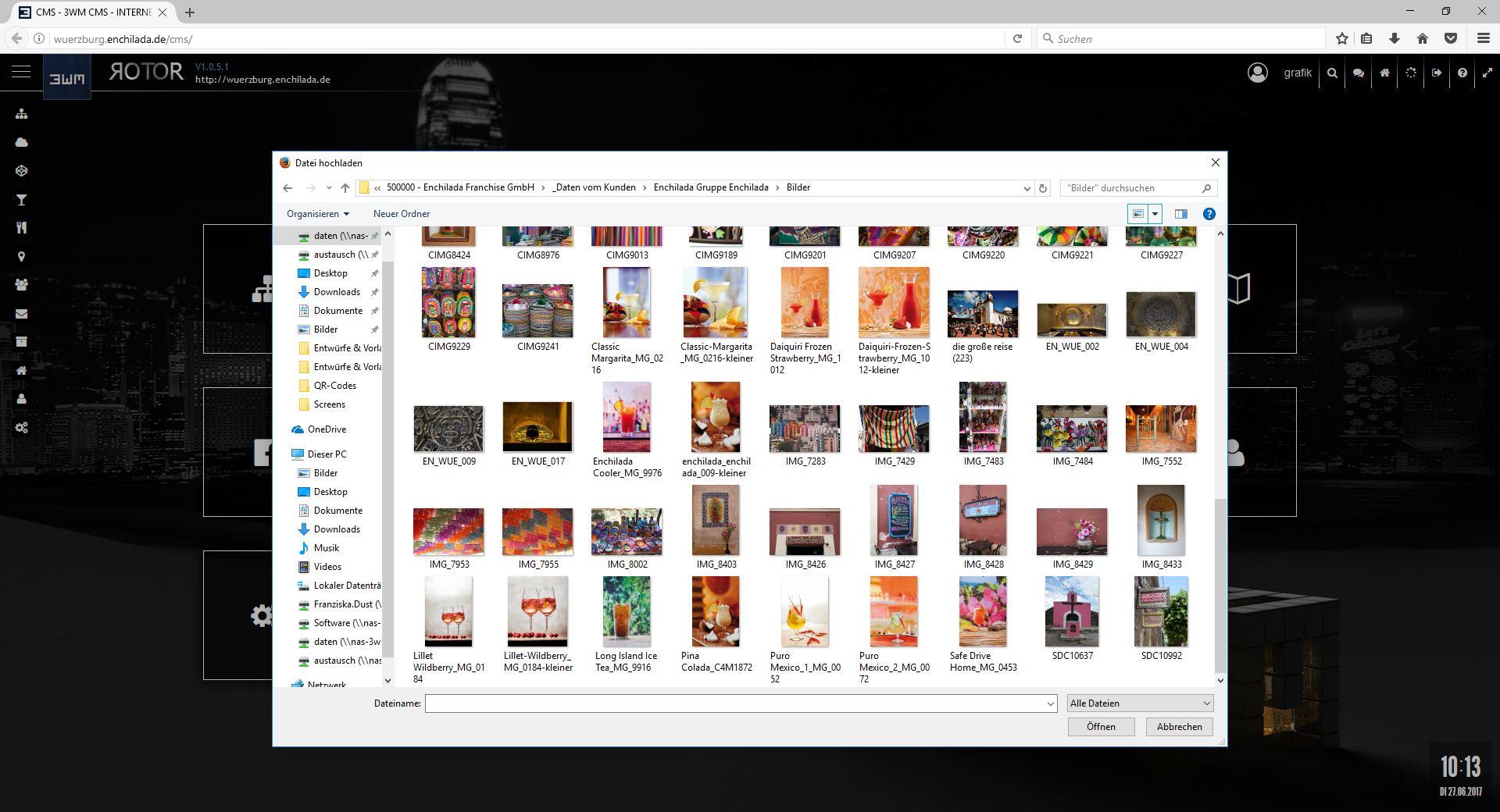 Abb. 2: Datei hochladen - Datei(en) auswählen