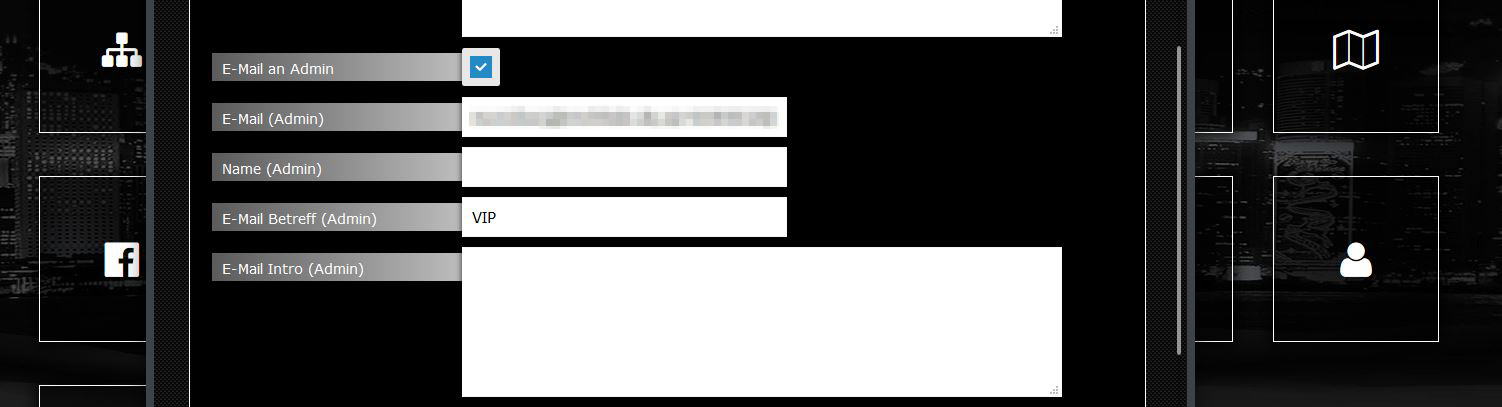 Abb. 4: Formular konfigurieren - Einstellungen Admin