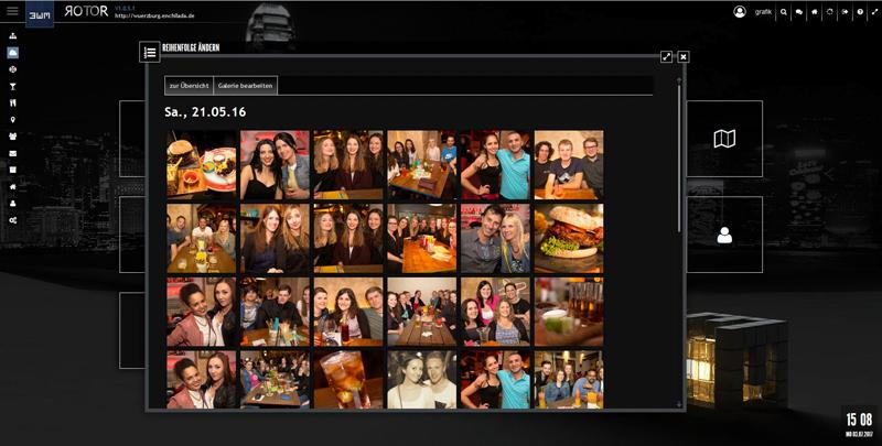 Abb. 2: Galerie sortieren - Reihenfolge der Bilder ändern