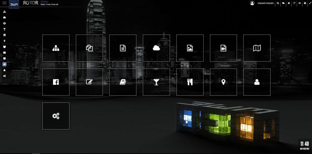 Startseite Navigation, Icons