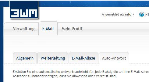 Abb. 1: Administrationsbereich E-Mail