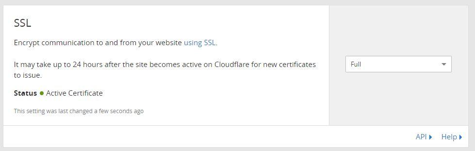 SSL Full-Einstellung