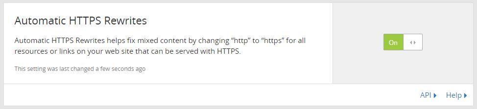 Automatic HTTPS Rewrites